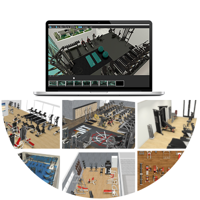 Commercial Gym Equipment Concept Planning Image